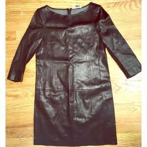 Vince. Stretch leather dress perfect condition
